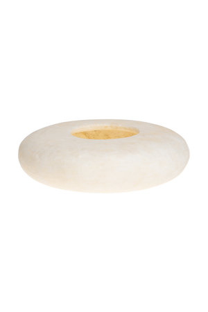 Alabast candleholder oval