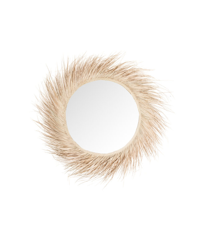 Palm mirror with fringes