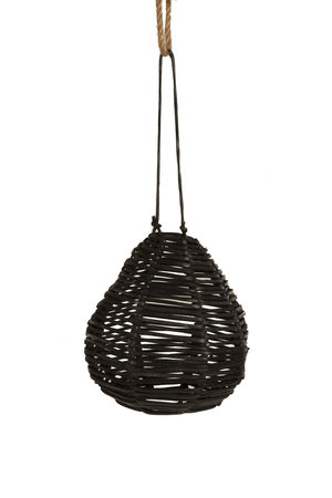 Suspension pear black leather
