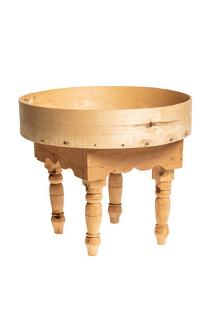 Couleur Locale Moroccan tea table with high boarder