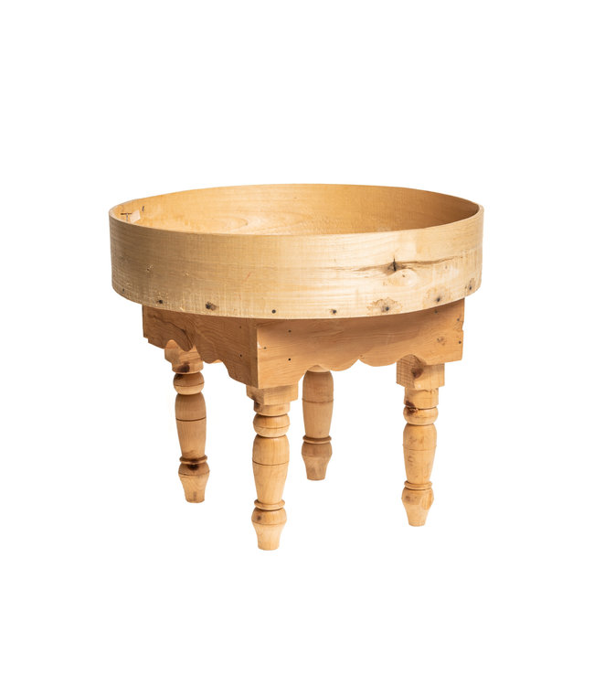 Moroccan tea table with high boarder