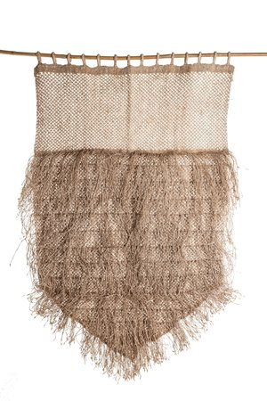 The Dharma Door Jute wall hanging with fringes