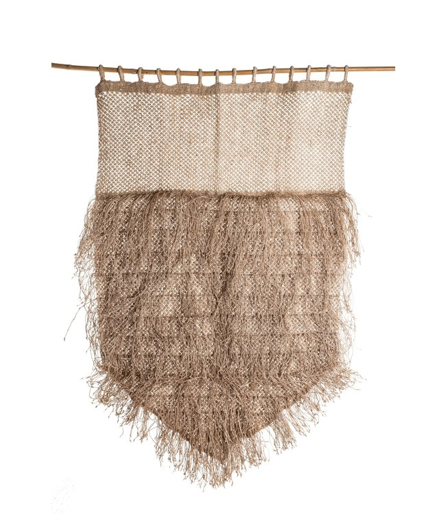 Jute wall hanging with fringes