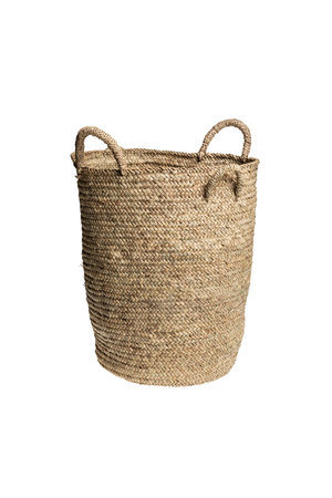 Couleur Locale High basket palm leaf with 4 handles