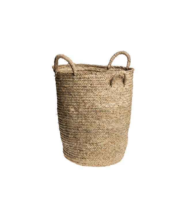 High basket palm leaf with 4 handles