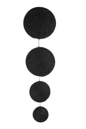 Raffia black wall pendant