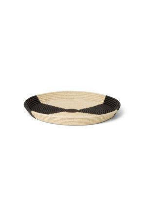 Mwanzo black & natural raffia schaal