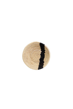 Black & natural striped  bowl