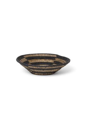 Black striped  bowl