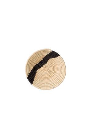 Striped black  & natural bowl