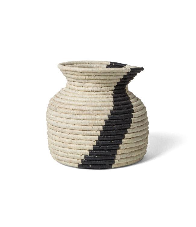 Striped kitchen utensil holder