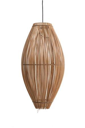 Bamboe visfuik hanglamp - naturel