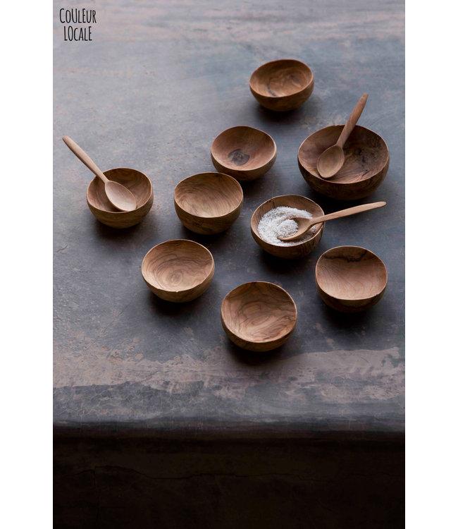 Small salt bowl - olive wood