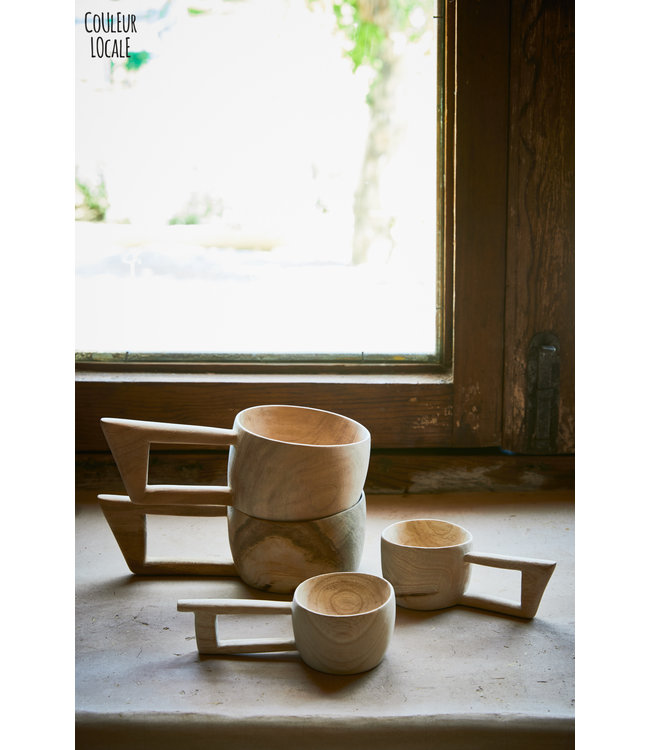 Wooden cup - fruit wood