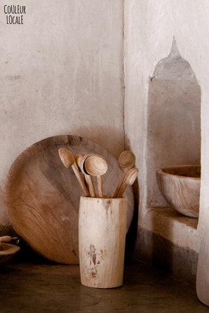 Couleur Locale Vijzel ruw - notenhout