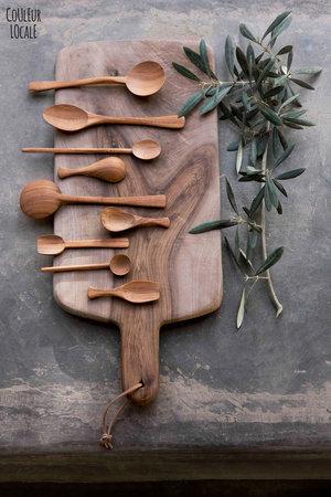 Ovaal schepje - abrikoos hout