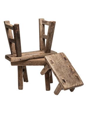 Oude houten kinderkrukjes