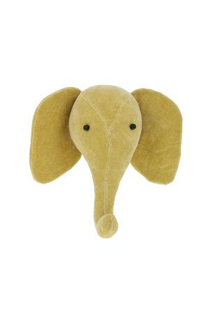 Fiona Walker England Dierenhoofd mini fluweel - olifant