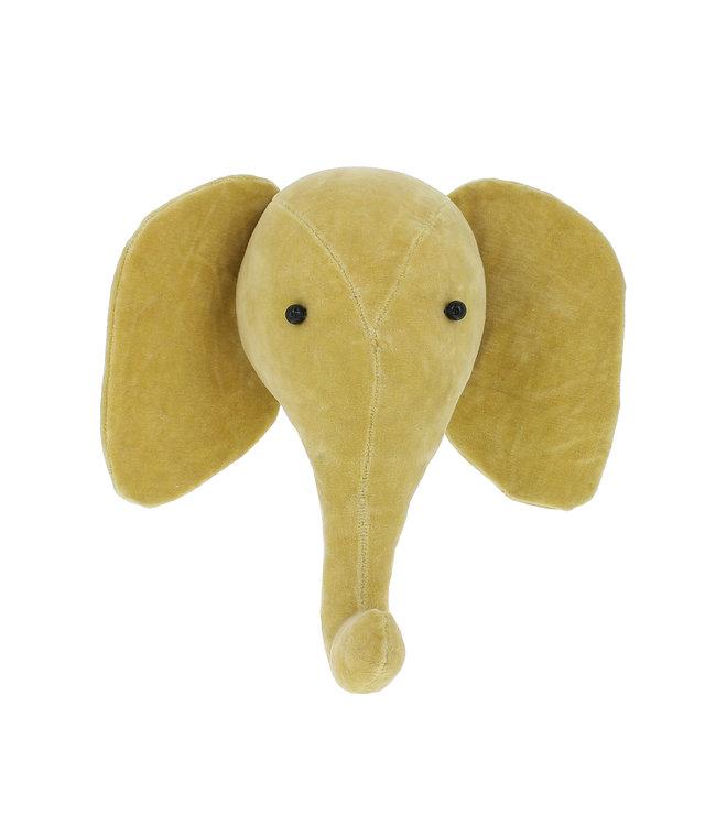 Animal head mini velvet - elephant