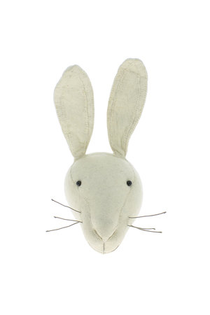 Fiona Walker England Animal head - white bunny