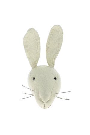 Fiona Walker England Dierenhoofd - wit konijn