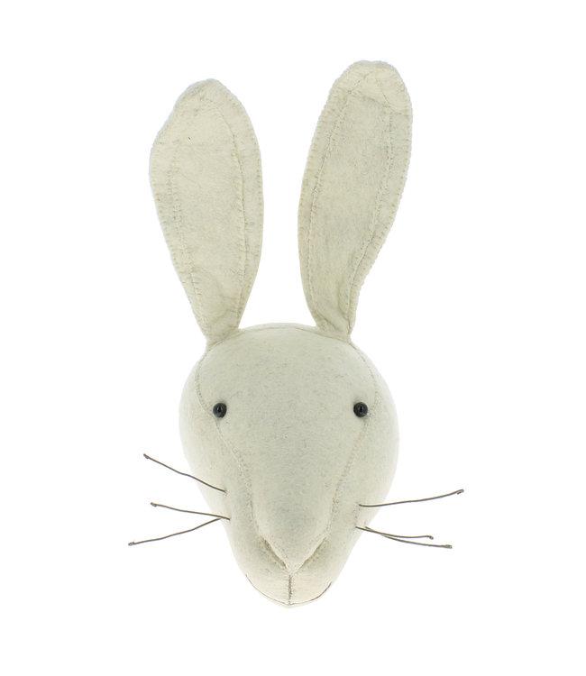 Dierenhoofd - wit konijn