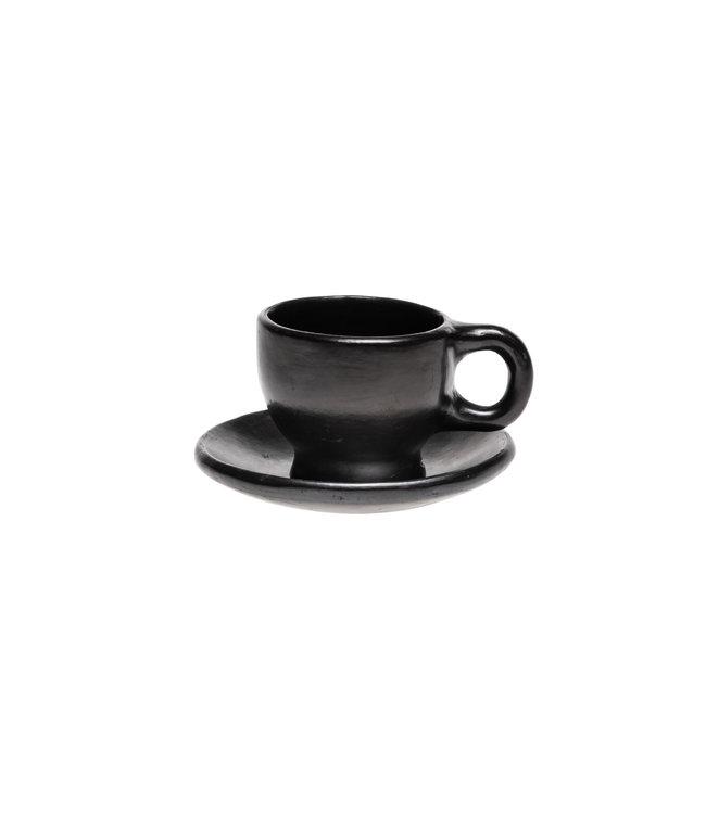 Koffiekopje met bord