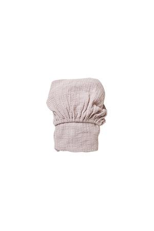 garbo&friends Calamine muslin fitted sheet junior