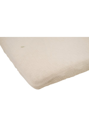garbo&friends Eggshell muslin fitted sheet junior