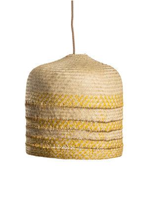 Hanglamp palmblad geel/naturel - Mexico