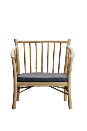 Tine K Home Bamboe new lounge stoel met donkergrijze matras