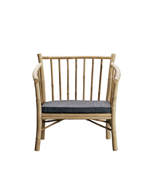 Tine K Home Lounge chair in bamboo with phantom mattress