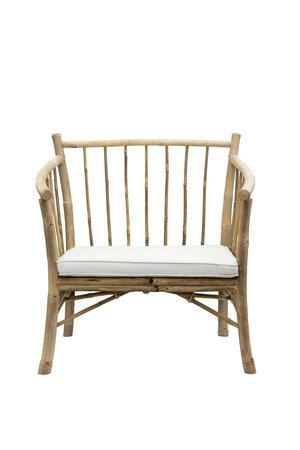 Tine K Home Bamboe new lounge stoel met witte matras