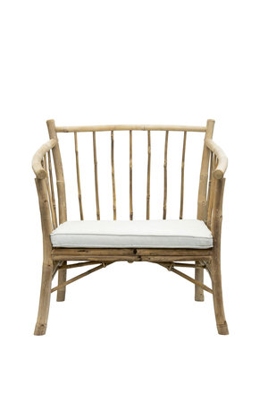 Tine K Home Lounge chair in bamboo with white mattress