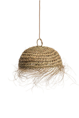 Rock The Kasbah Hanging lamp seagrass 'Sywar' with fringes