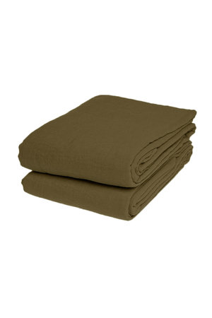 Linge Particulier Flat sheet linen - curry