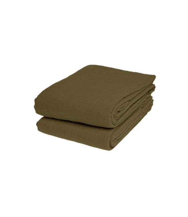 Flat sheet linen - curry