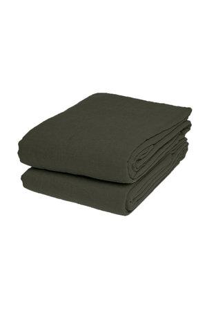 Linge Particulier Flat sheet linen - kaki