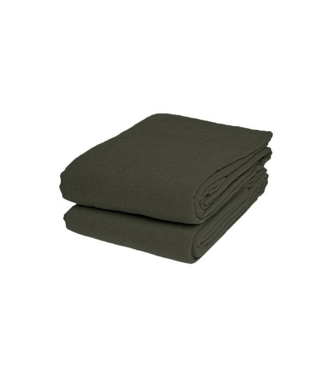 Flat sheet linen - kaki