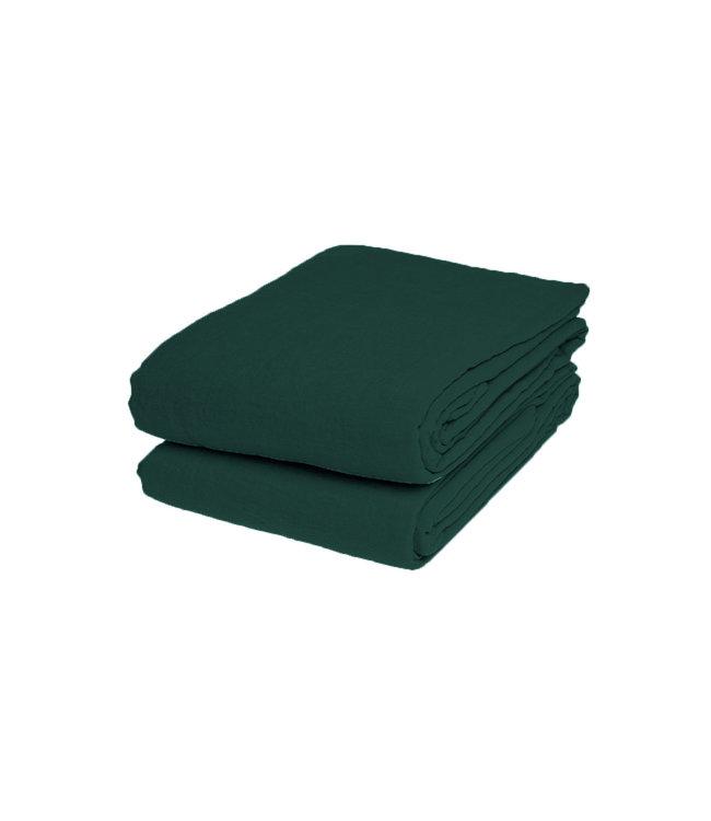 Laken linnen - vintage green