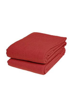 Linge Particulier Laken linnen - carmine red