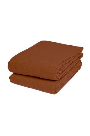 Linge Particulier Flat sheet linen - sienna