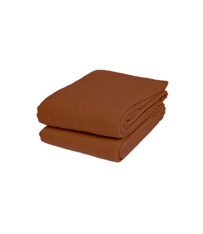 Flat sheet linen - sienna