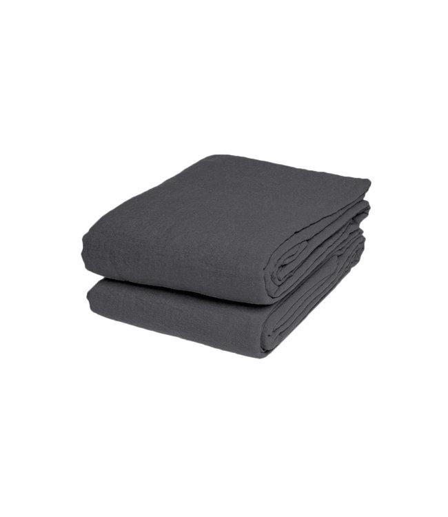 Linge Particulier Flat sheet linen - storm grey