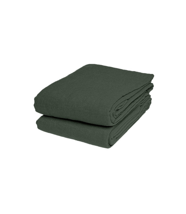 Linge Particulier Flat sheet linen - jade