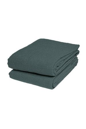 Linge Particulier Flat sheet linen - sage