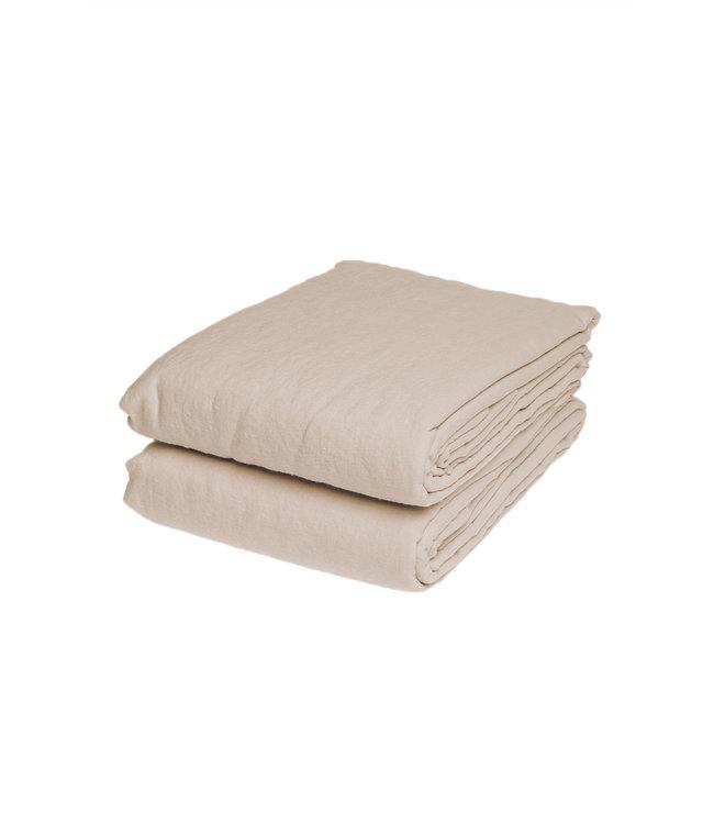 Duvet cover linen - sand