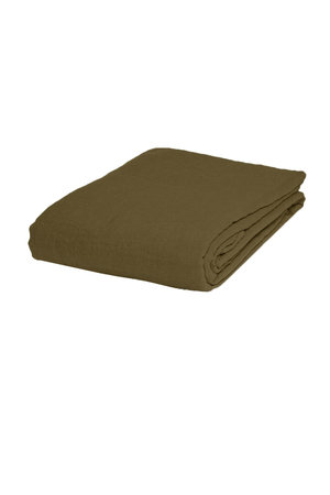 Linge Particulier Fitted sheet linen - curry