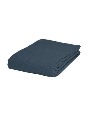Linge Particulier Fitted sheet linen - duck blue