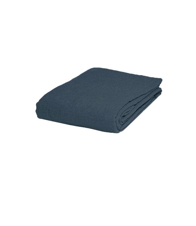 Linge Particulier Fitted sheet linen - duck blue